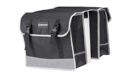 Dunlop dubbele fietstas - geschikt voor elke fiets met bagagedrager